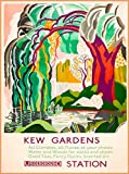 DHArt 1000 Piece Jigsaw Puzzle Kew Gardens Underground London England Great Britain Vintage Travel Wall Art Adult Children Kid Grownup Lovers Puzzles Gift Toy
