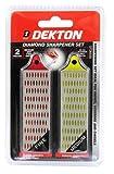 Dekton DT30550 - Juego de piedras para afilar diamantadas (2 unidades)