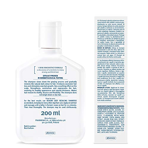 REVIUM INTENSIVE GRAY-REDUCING SHAMPOO WITH 1-MNA MOLECULE, FOR WEAK...