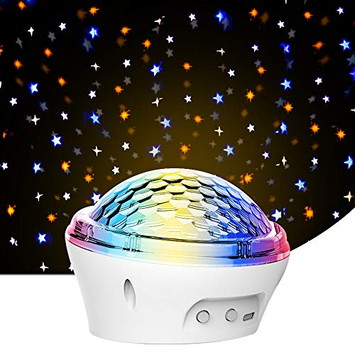 Star Night Light for Kids, LED Projector Lamp for Decorating Birthdays, Parties, Christmas, Best Gift for Baby's Bedroom Sleep, Nursery Night Lights with 4 Modes Twinkling Stars and Timer