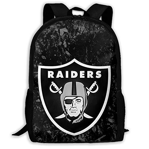 xiameng Oak-Land Raiders High-Capacity Unisex Adult Backpack Bookbag Travel Bag Schoolbags Laptop Bag
