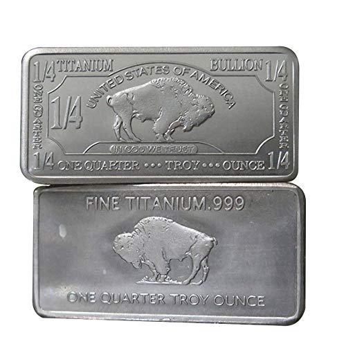1/4 Oz Quartal Unze USA Amerikanischer Büffel .999 Rein Titanbarren Ti Titanium Titan Barren (Translated from English)