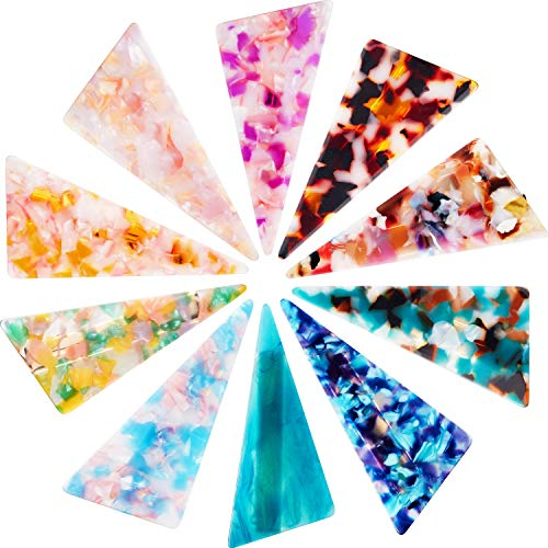 10 Pieces Acrylic Resin Hair Clips Hair Barrettes Geometric Alligator Hair Clips Colorful Marble Pattern Hairpins Hair Styling Clips for Women and Girls Hair Accessories