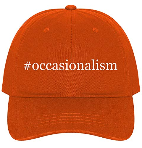 The Town Butler #Occasionalism - A Nice Comfortable Adjustable Hashtag Dad Hat Cap, Orange