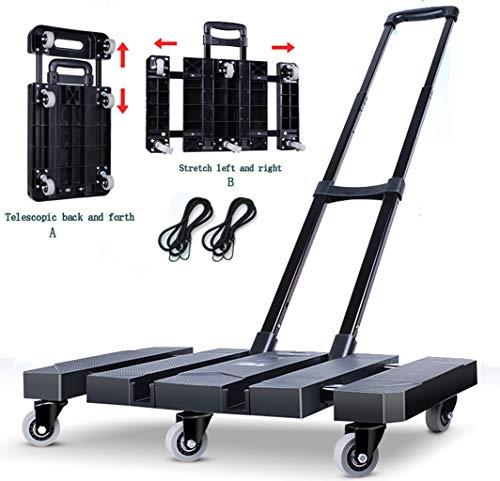 Draagbare handbagage-trolley voor vrachtwagen, inklapbaar, twee soorten klimmen voor zwaar en duurzaam werken van de kruiwagen van vrachtwagen, koffer.