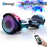 CITYSPORTS Balance Board 6.5', Self Balancing Scooter Patinete Elctrico con Rueda LED y Bluetooth Integrado, Motor 2 * 350W (Hover-4)