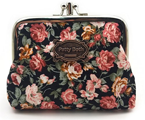 Cute Classic Floral Exquisite Buckle Coin Purse-Patty Both (05)