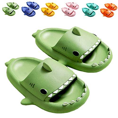 Kids Shark Sandal Girls Boys Slide Lightweight Garden Shoes Slip On Shoes Pool Shoes for Beach Pool Shower Slippers,sytx02,green190