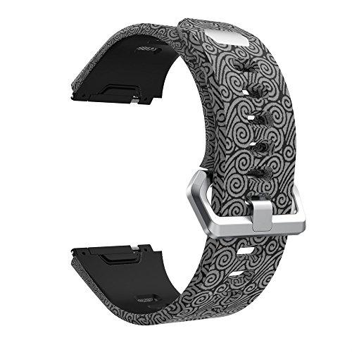 Correa para Fitbit Ionic - Correa de Silicona Estampada Colorida Tema Pulsera - Ajustable Reemplazo Banda de Reloj Accesorios para Hombre Mujer Baohooya