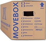 KK-Verpackungen Umzugskartons, 20 Stück, (Profi) STABIL + 2-WELLIG - Umzug Karton Kisten Verpackung...
