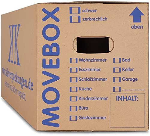 30 x UMZUGSKARTONS ZWEIWELLIG - 634 x 290 x 326 mm - MOVEBOX - 2.20 EB Welle