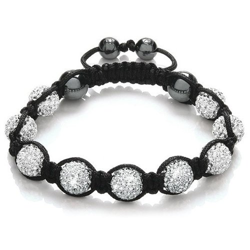chinkyboo Unisex Shamballa Bling Disco Ball Friendship Gift Sparkling Crystal Bracelet Beads