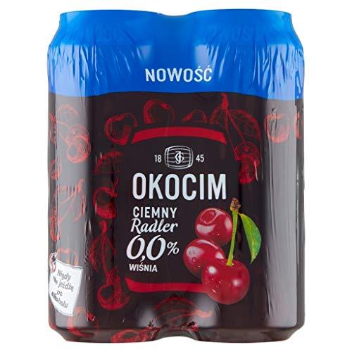 GroßhandelPL Bier Okocim Radler Dunkle Kirsche 0% 6er Pack x 4 Dose (24x 500ml)