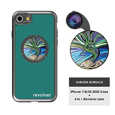 Ztylus Designer Revolver M Series Camera Kit: 4 in 1 Lens with Case for iPhone 7/8 / SE 2020 – Fisheye Lens, Wide Angle Lens, Macro Lens, CPL by Ztylus