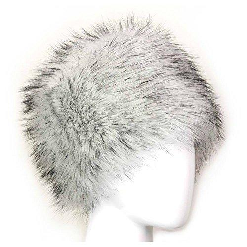 maxgoods Künstlich Faux Pelz Kosaken Russisch Stil Winter Hut Weiß
