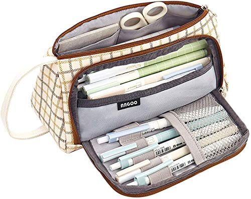 RUICHUANGS estuche escolar ,estuche mascarillas, estuche,Con mango- de gran capacidad, caja de lápices, bolsa de cosméticos, bolsa de almacenamiento,24 cm