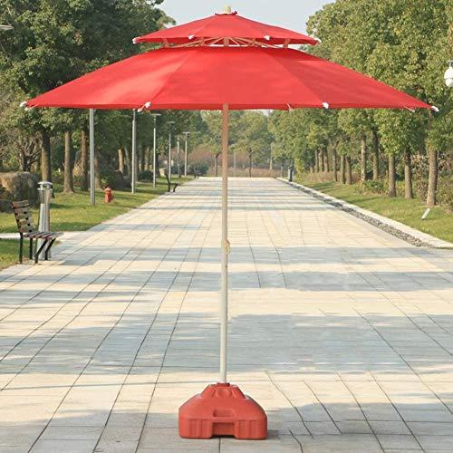 zhangchao Jardín Sombrillas, 7,5' / 230cm jardín Patio Mesa Paraguas con botón de inclinación, Aire Libre Patio, Playa Comercial Evento Marke,E