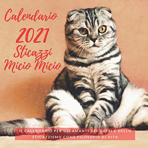 Calendario 2021 Sticazzi Micio Micio: Il Calendario per gli Amanti dei Gatti e dello...