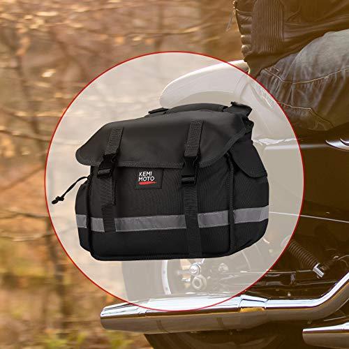 Motorcycle Saddle Bags, Scooter Pannier Saddlebags for Sportster Dyna Warrior Vstar, Universal, Black