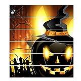 Vinilos decorativos de Halloween vintage Vinilos decorativos d'Halloween - Autocollant mural horrible Peel and Stick - Autocollant mural pour sol de chambre (A27)
