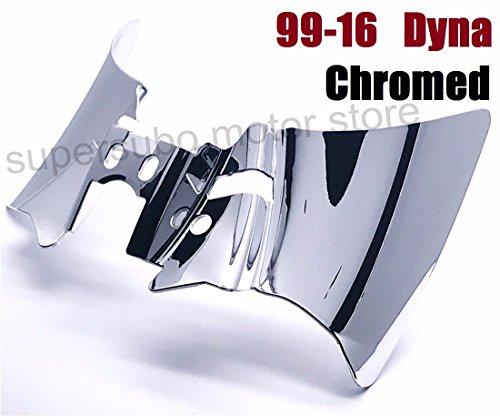 Chromed Saddle Shield harley Heat Deflector For Harley Dyna FXD FXDWG 1999-2016 01-16