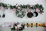 Accesorios de Fondo de fotografía de Navidad de Vinilo, Accesorios de Fondo de Estudio fotográfico con temática de tablones de Madera y Flores A5 7x5ft / 2,1x1,5 m