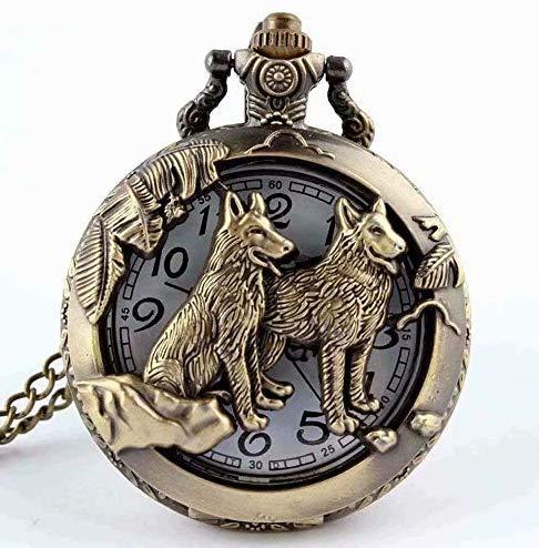 LINSUNG 1pc Retro Tapa abatible 12 reloj de bolsillo Zodiac Reloj de cuarzo Regalo conmemorativo