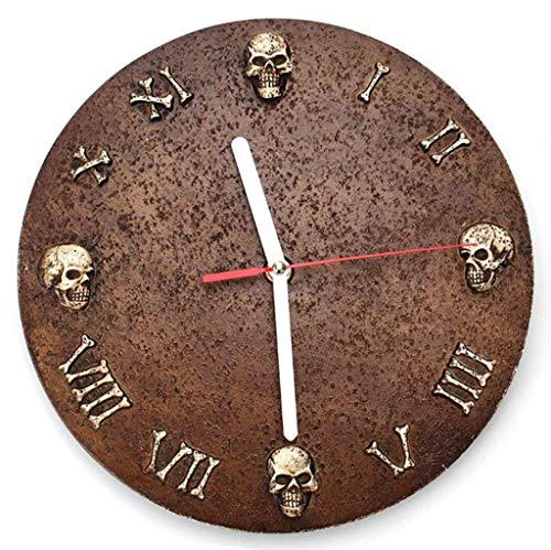 LKOER Reloj de Pared al Aire Libre, 10 Pulgadas Retro Reloj de Pared de Esqueleto Números Romanos Reloj de Pared Adornos de jardín para jardín/Patio/Patio/casa jinyang