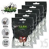 Lot de 5 sachets de 150 filtres acétane cigarette roulée JASS 6mm (style OCB, gizeh ou rizla)