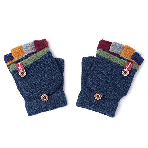 Pormow Herbst und Winter Baby Warme Handschuhe Kind Gestrickte Fäustlinge,3-6 Jahre alt