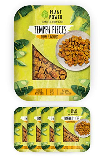 Plant Power - Tempeh Curry Flavoured Pieces - Pack of 4