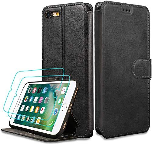 LeYi Funda iPhone 8/7 / 6s / 6 con Cristal Templado [2...