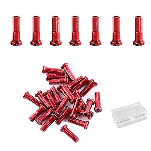 Jurxy - Juego de 72 boquillas para radios de aleación de 14 G, puntas de extremo para pezones y radios, decoración para...
