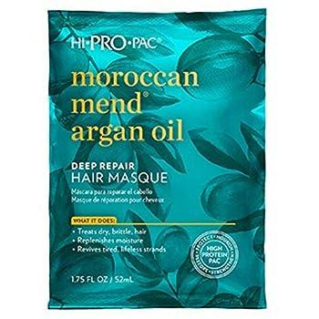 Hi Pro Pac Hair Masque Deep Repair Moroccan Mend Argan Oil,Pack of 6