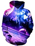 Yasswete Unisex 3D Colorful Out Space Printed Hooded Sweatshirt Casual...