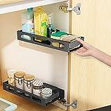 Under Sink Organizer and Storage, LALASTAR Pull Out Spice Rack Under Cabinet Organizer, Wall Mount Kitchen Bathroom Storage Organizer Holder, 2 Pack