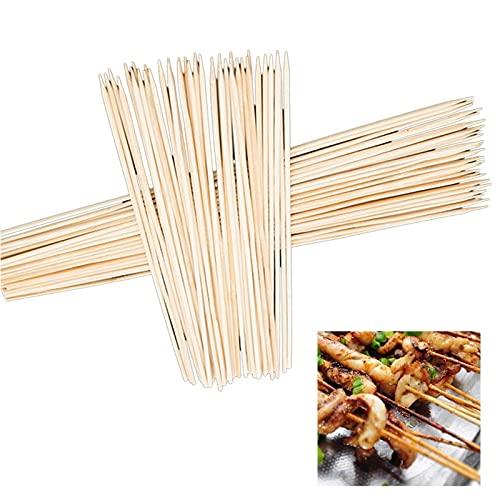 WLTY 90 unids/Set Accesorios para Barbacoa brochetas de bambú Parrilla Shish Kabob Barbacoa Herramientas para Barbacoa Palos de Madera Tenedores Alfombrillas para Parrilla