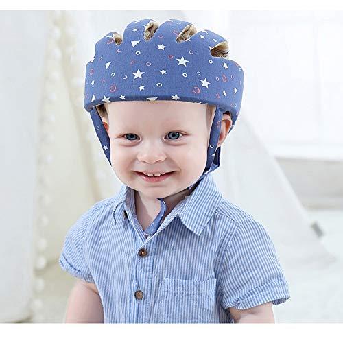 HLSUSAN Casco di Sicurezza per Bambini - Cappello per Casco di Sicurezza Regolabile, Cappello di Protezione per la Testa per Camminare strisciando