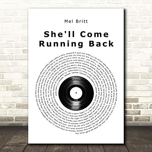 Ze zal komen rennen terug Vinyl Record lied Lyric Poster Wall Art Print Small A5