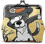 De Li Sheng Carteras Halloween Border Collie BC Dog Dabbing