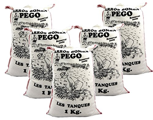 Bomba Reis aus Spanien 5 x 1 KG - Premium Rundkornreis - für Paella, Risotto.... - Anbau im geschützten Naturpark Marjal - von Pego Natura, Größe:1 Kg