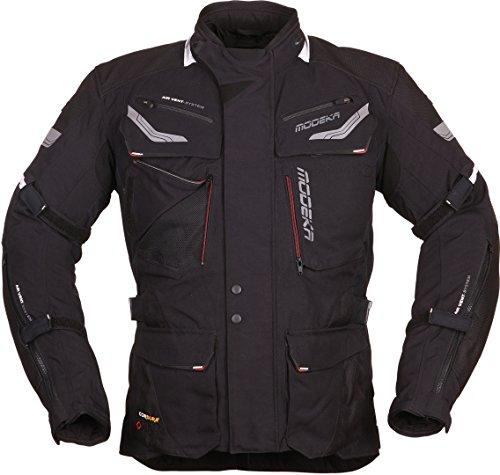 Modeka Chekker Motorrad Textiljacke Schwarz XL