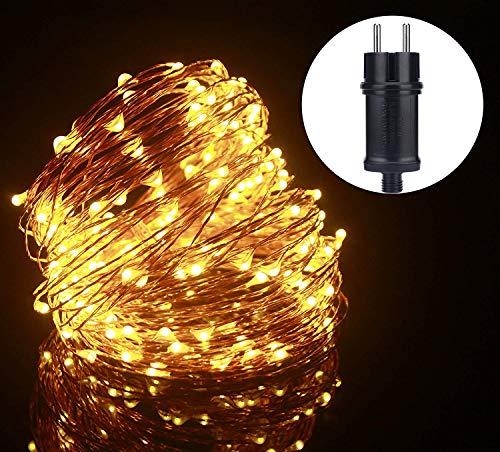 ALED LIGHT Dirigido alambre de cobre flexible Luz de Navidad estrellado al aire libre luces de cadena de interior y...