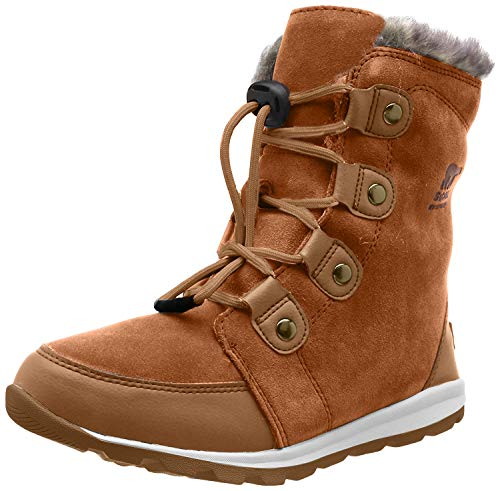 Sorel Kinder Youth Whitney Suede Wildlederstiefel, braun (elk)/weiß (natural), Größe: 34