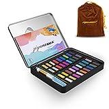 MICGEEK Set de pintura acuarela 36 colores Herramientas profesionales ligeras prácticas