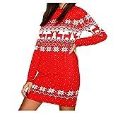 (レッド/S)クリスマスワンピース ヴィンテージ風 ドレス レディース liqiuxiang クリスマス パーティードレス ツリー コスプレ 雪だるま柄 カラードレス レディース セクシー ステージドレス ウェディング クリスマスワンピース ヴィンテージ風 かわいい