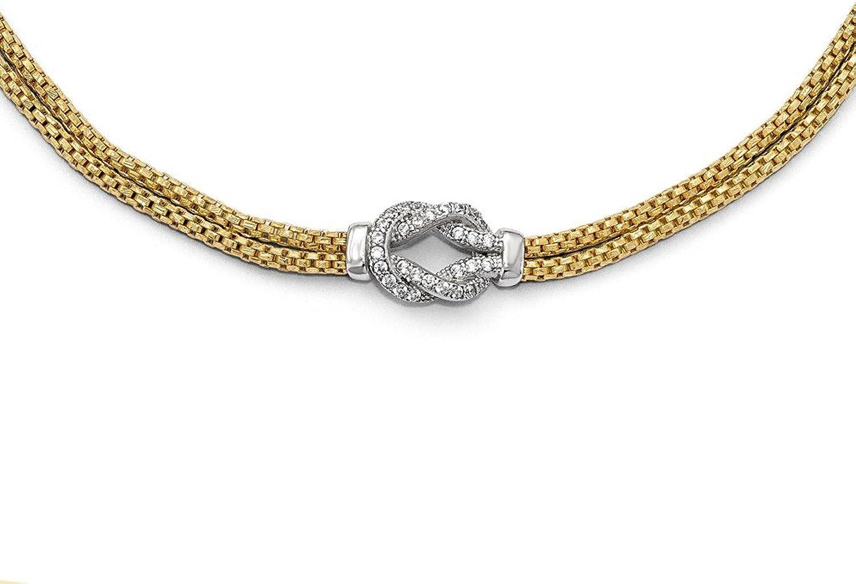 925 Sterling Silver goldtone Rhodiumplated CZ Bracelet