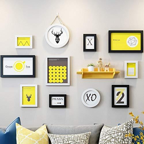 Jjek Photo album muur, multi-foto ontwerp, die 136x92cm, naadloze nagel muur fotolijst hanger decoratie E