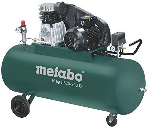 Metabo Mega 520-200 D - Hp compressore 4 200 litri cinture trifasico