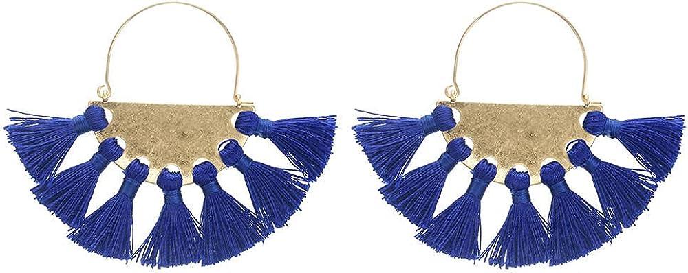 Cuff Earringsmultiple Tassels Combination Blue Earrings Ear